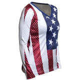 Women's Old Glory Long Sleeve Performance V-Neck