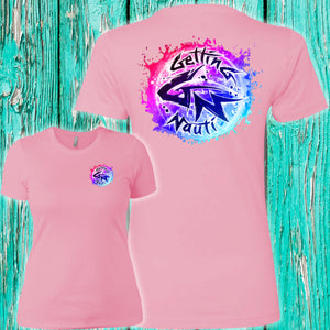 Pink & Blue Splash Ladies' Boyfriend T-Shirt