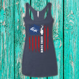 Going Down Ladies' Triblend Racerback Tank