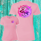 Pink Splash Ladies' Boyfriend T-Shirt