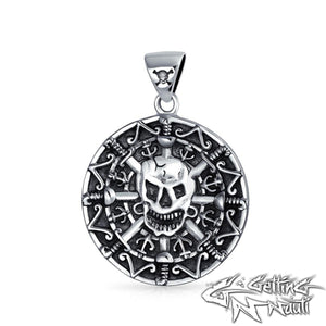 Custom Sterling Silver Pirate Coin Pendant