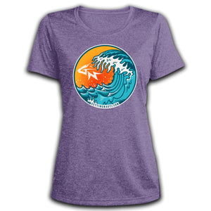 Retro Waves - Ladies' Dri-Fit Moisture-Wicking T-Shirt