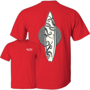 Octopus Surfboard - Cotton T-Shirt