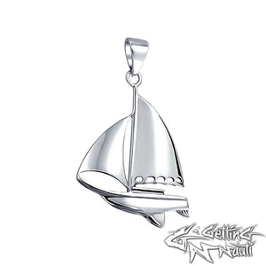 Custom Sterling Silver Sailboat Necklace