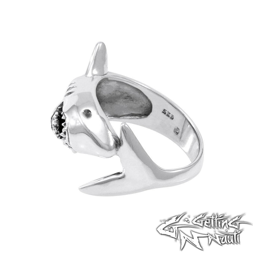 Custom Sterling Silver Ring -  Shark
