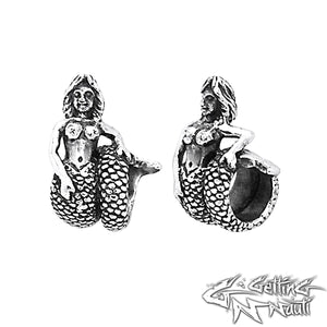 Custom Sterling Silver Charm - Wraparound Mermaid (Pandora Compatible)
