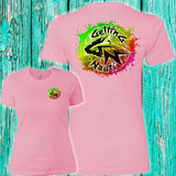Watermelon Burst Splash Ladies' Boyfriend T-Shirt