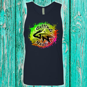 Watermelon Burst Splash Men's Cotton Tank