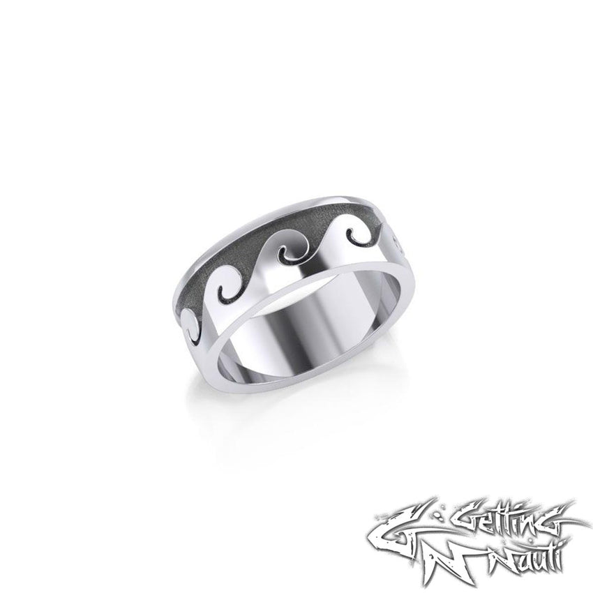 Custom Sterling Silver Waves Ring