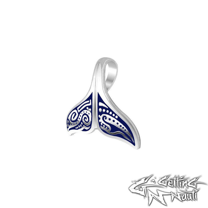 Custom Sterling Silver  Aboriginal Whale Tail Necklace