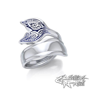 Custom Sterling Silver Whale Tail Spoon Ring