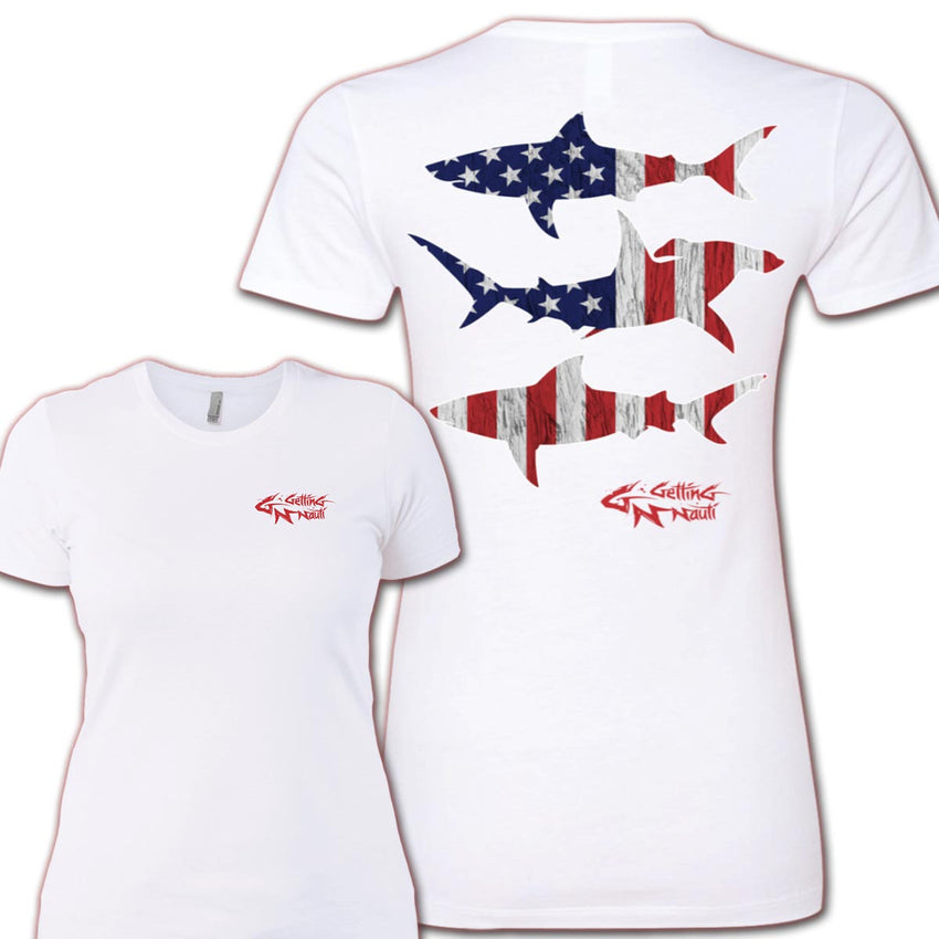 Patriot Sharks Ladies' Boyfriend T-Shirt