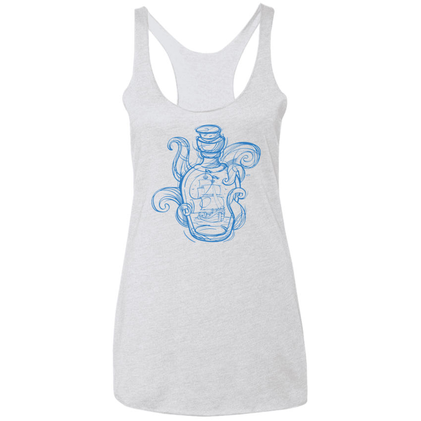Ship In A Bottle - Ladies' Racerback Tank