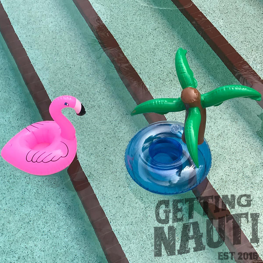 Bar/Pool Items - Floating Drink/Cell Phone Holder - Flamingo 4 Pack