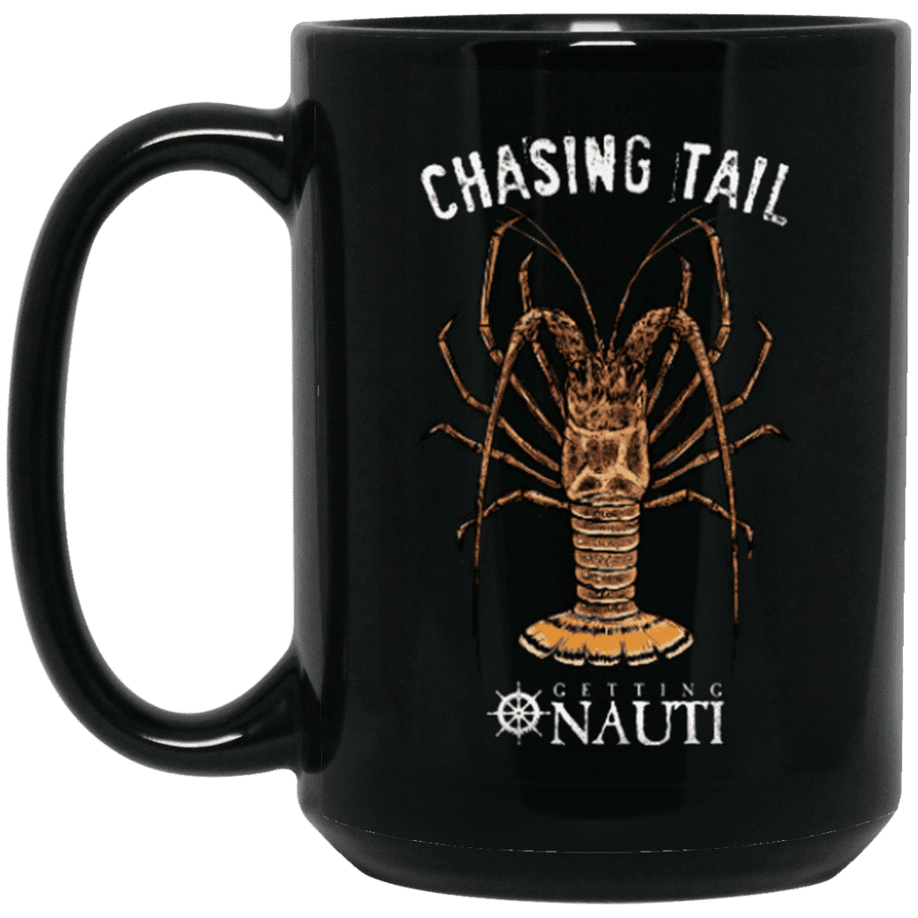 Drinkware - Chasing Tail - 15 Oz. Black Mug