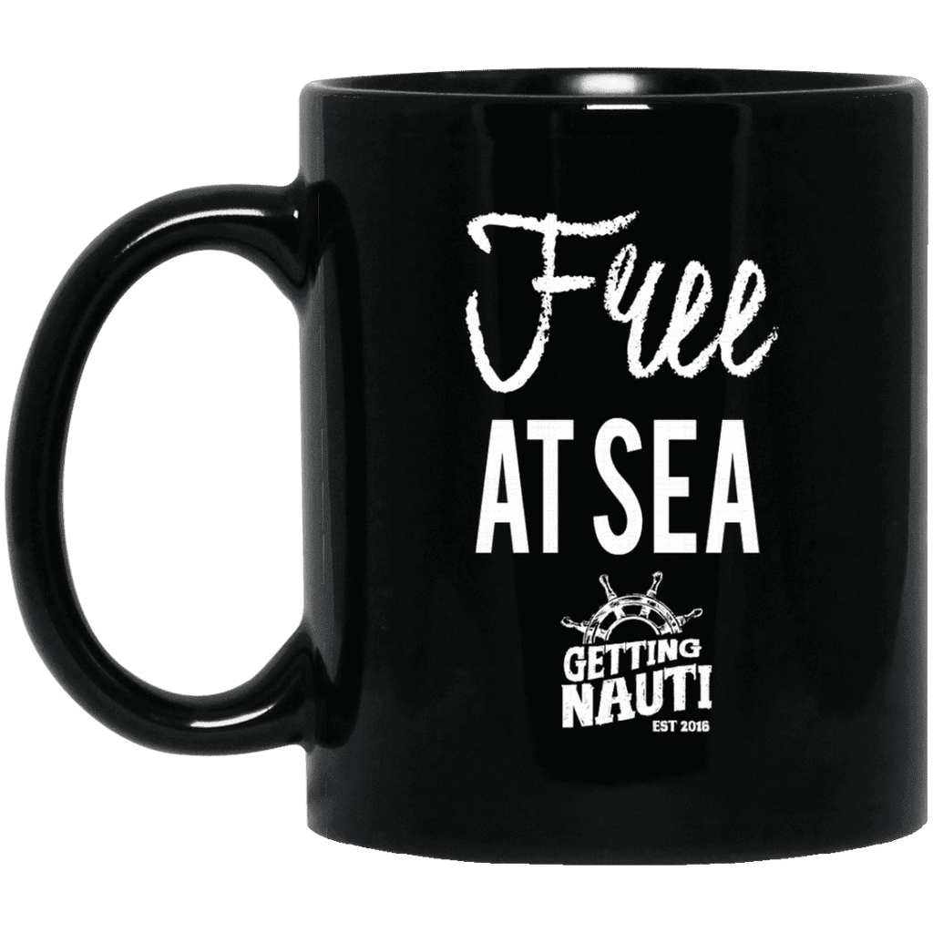Drinkware - Free At Sea - 11oz Black Mug