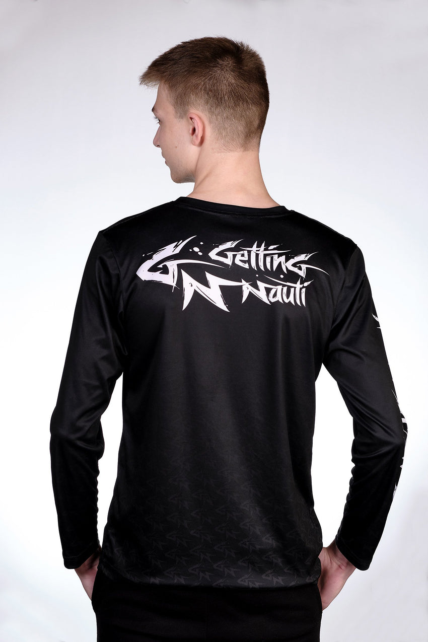 Performance Activewear - Men's Shark Logo Long Sleeve Performance Shirt