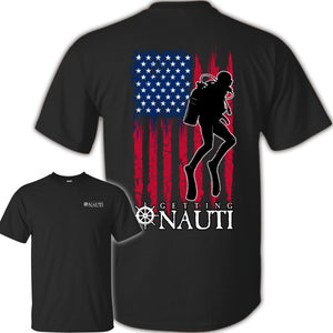 T-shirt - USA Diver - Cotton T-Shirt