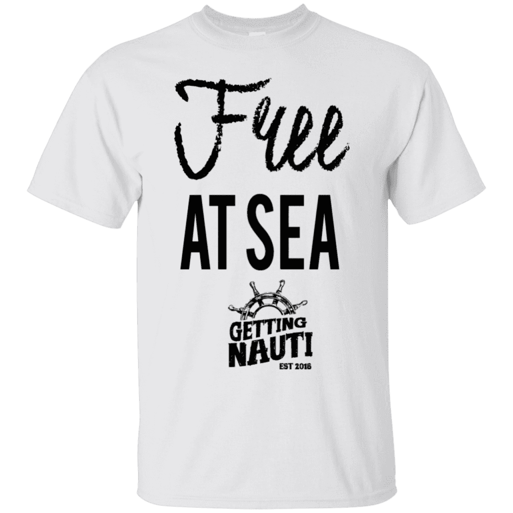 T-Shirts - Free At Sea - Cotton T-Shirt