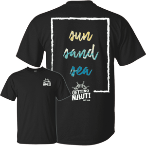 T-Shirts - Sun, Sand, Sea - Cotton T-Shirt