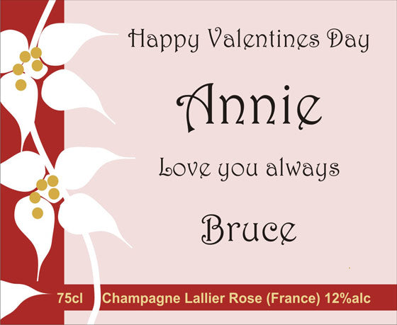 Romantic Greeting Card for Wine Gift