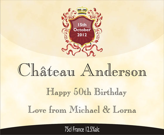 Birthday Greeting Card for Wine Gift