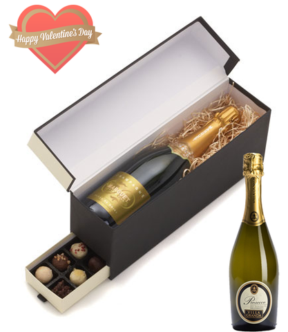 Sparkling Wine and Truffles Valentine Hamper