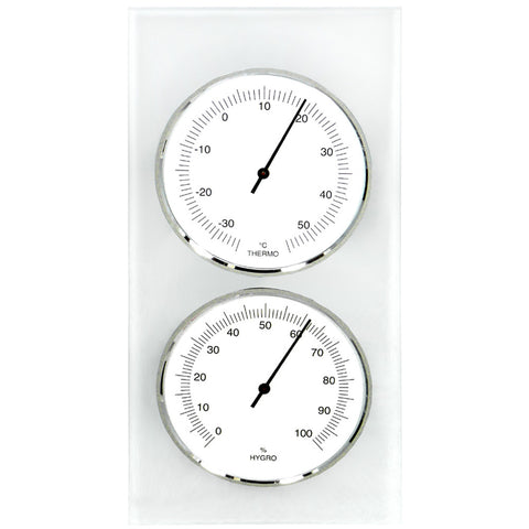 Cellar Thermometer / Hygrometer with Frosted Glass Back