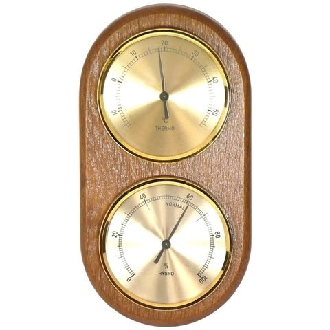 Cellar Thermometer / Hygrometer with Wooden Back