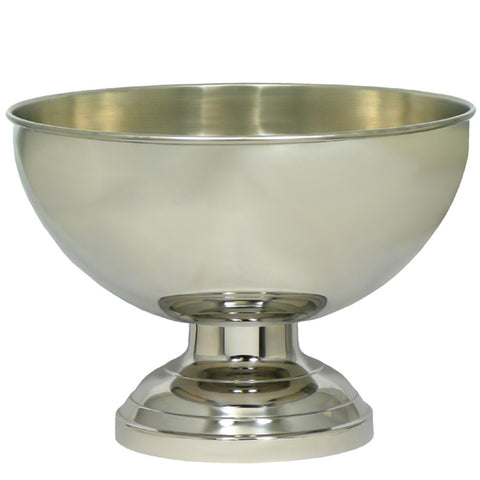 Champagne Bowl - Polished Stainless Steel & Brushed Interior 33cm
