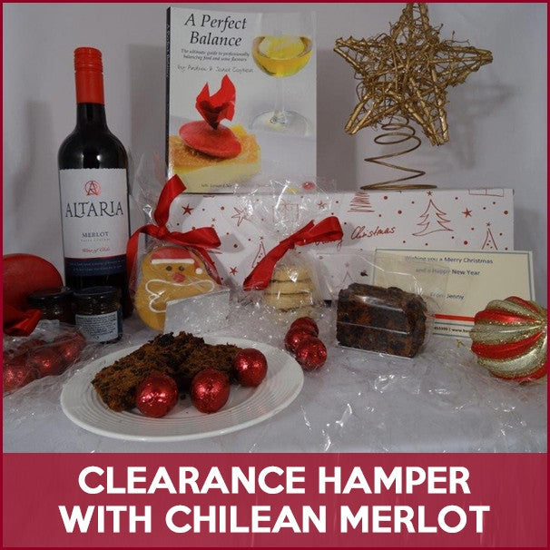 Clearance Christmas Hamper with Merlot