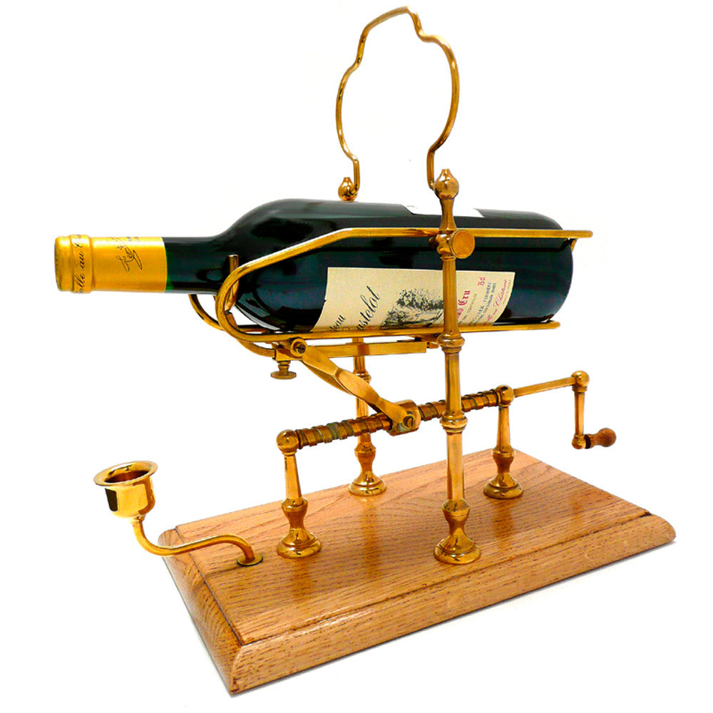 Decanting Cradle Low Brass Square Base