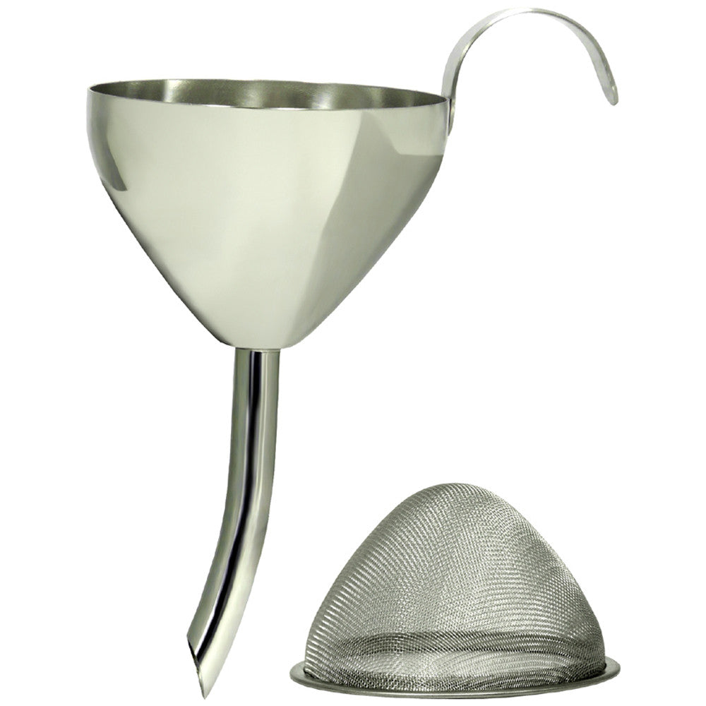Decanting Funnel - Stainless Steel with Filter