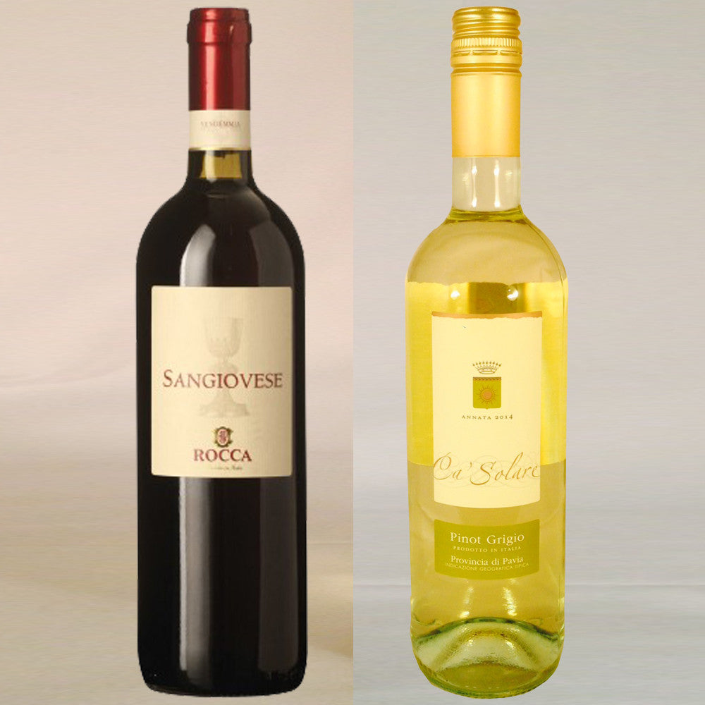 2 Bottle Italian Wine Gift by Post