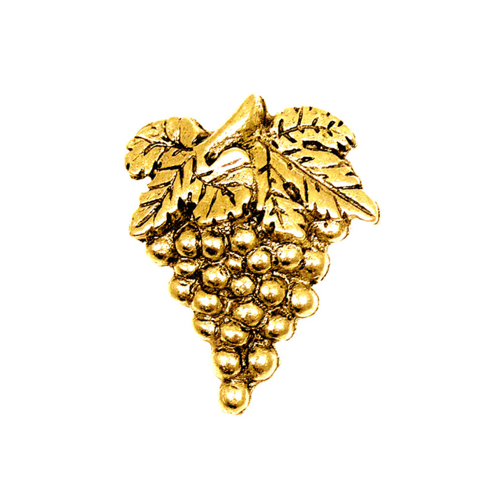 Sommelier Pin, Small, Grape, Gold Plate