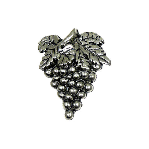 "Sommelier Pin, Small, Grapes, Pewter <span style=""font-size:72%;"">(gd4536)</span>"