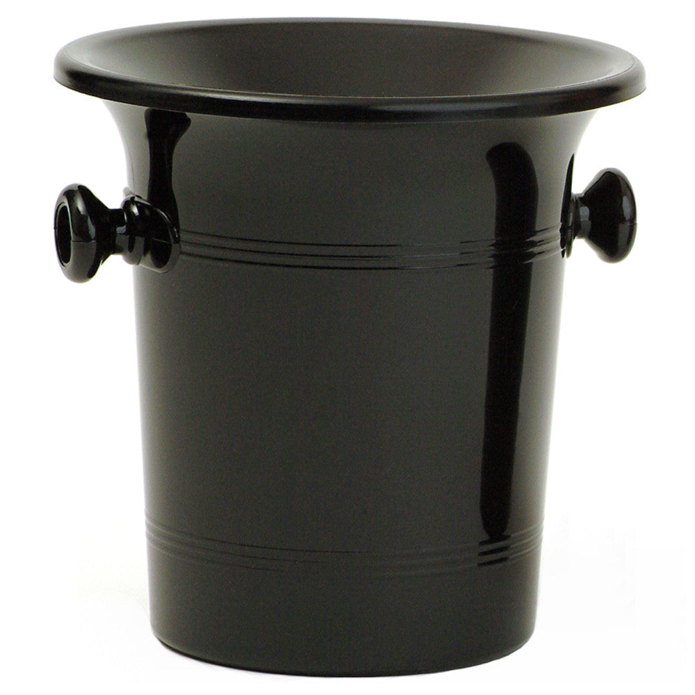 Spittoon, Bucket Style, Black Plastic