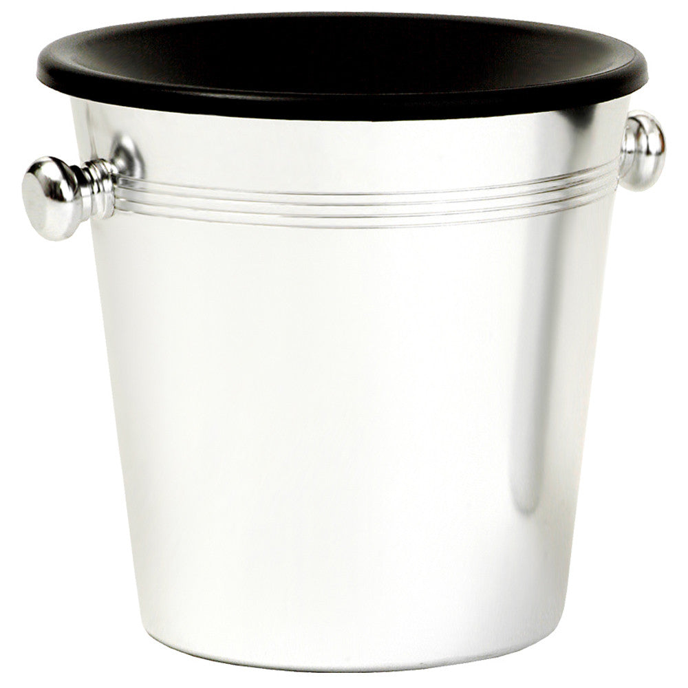 Spittoon, Bucket Style, Aluminium/Black