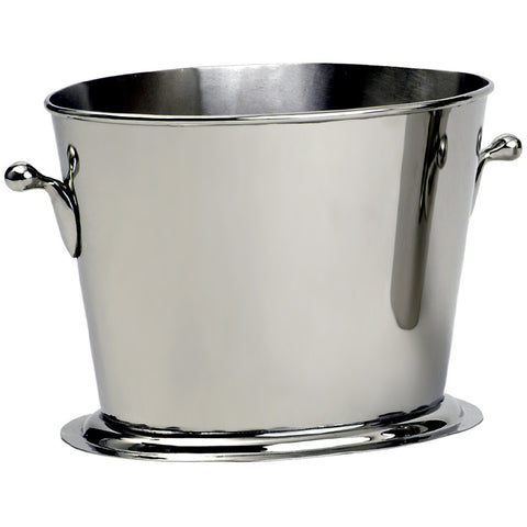 Wine Bucket, Olive Handle, large, Nickel