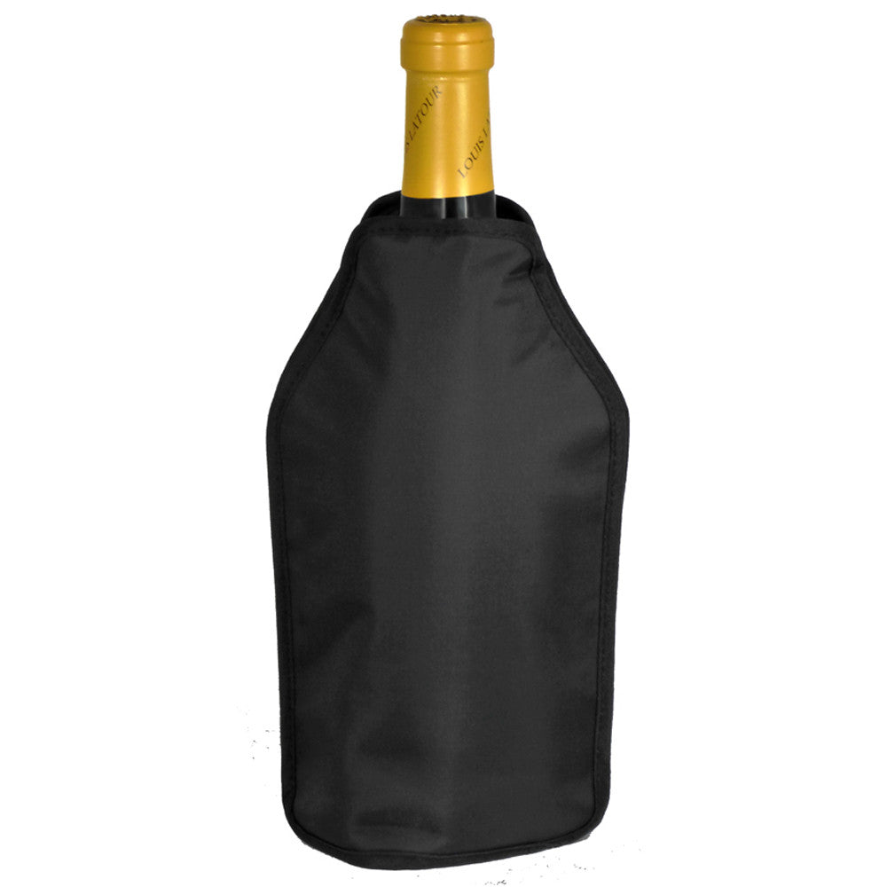 Wine Cooling Sleeve, Elasticated, Black