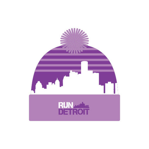 2016 Detroit Skyline Beanie Purple