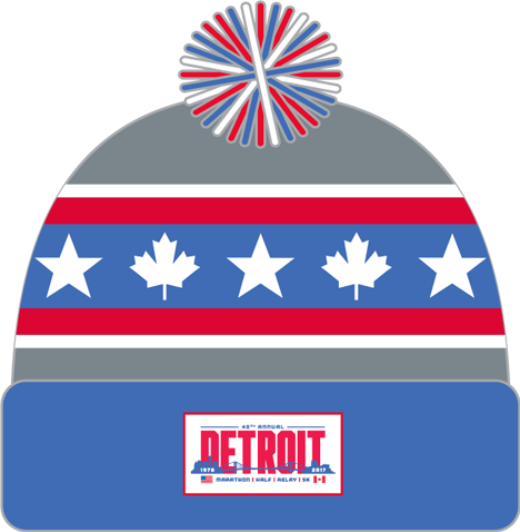 2017 Detroit Pom Pom Beanie - Star & Maple Leaf