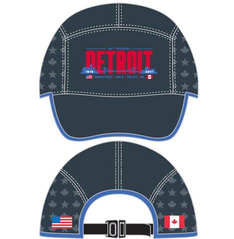 2017 Detroit Run Cap - Charcoal