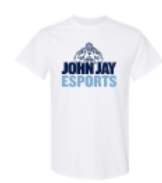GILDAN NAVY HOODIE WITH JOHN JAY COLLEGE