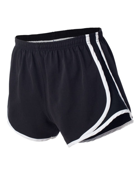 BLACK SHORTS W/TRIUMPH LAX LOGO EMBROIDERED