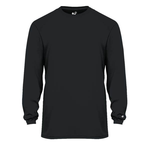 MEN'S BADGER DRI FIT LONG SLEEVE SHIRTS W/ TWO COLOR IMPRINT