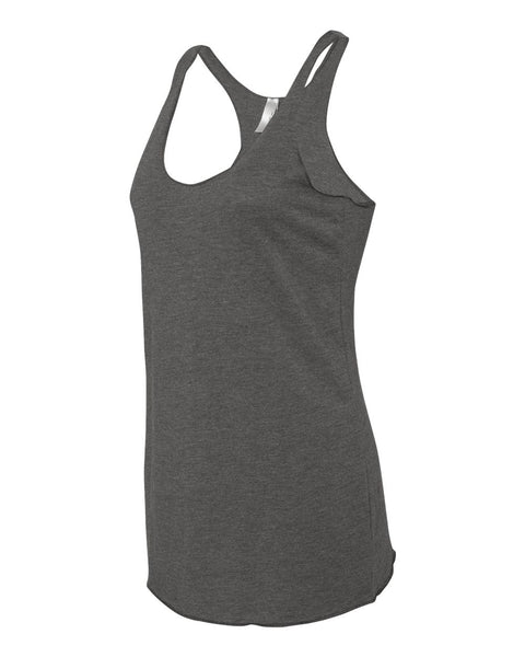 NEXT LEVEL TRIBLEND LADIES RACERBACK TANK  W/DISAPPEARING INK