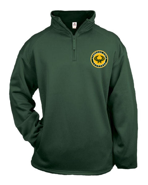 Badger Dri fit 1/4 ZIP w/ Lynbrook Lax Logo Embroidered and NUMBER on sleeve