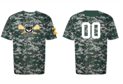 Badger Camo SHOOTING- SHIRT W/ NUMBER ON BACK