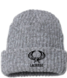 Chunky Grey  Beanies With Lynbrook Lax Logo